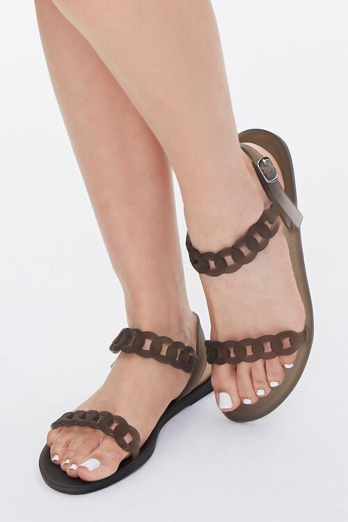 Chain-Strap Jelly Sandals, image 1