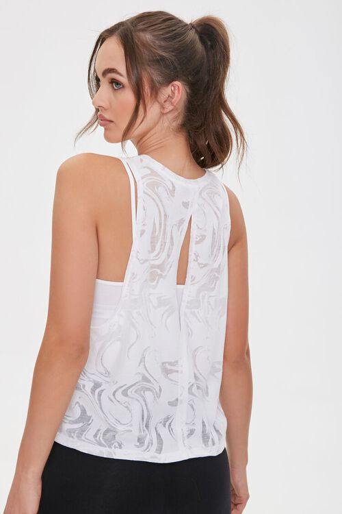 Active Marbled Cutout Tank Top, image 1