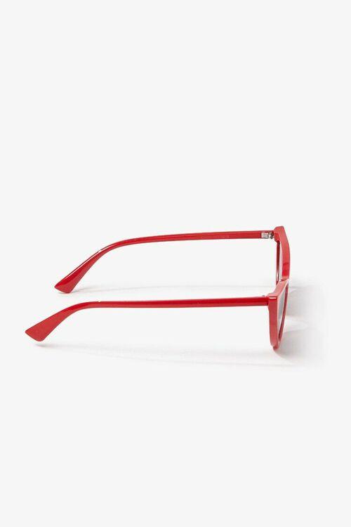 RED/BLACK Tinted Cat-Eye Sunglasses, image 3