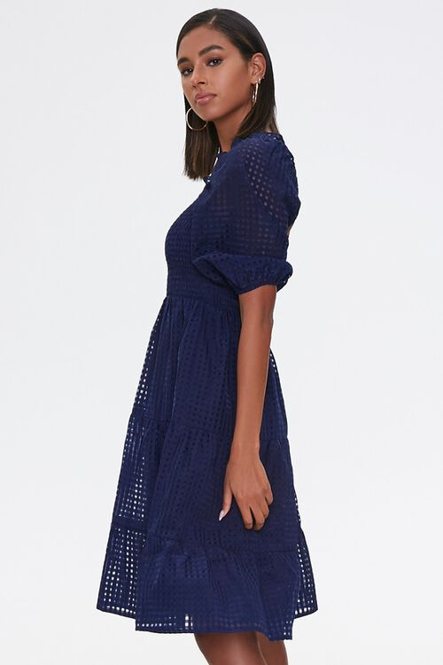 Netted Fit & Flare Dress, image 2