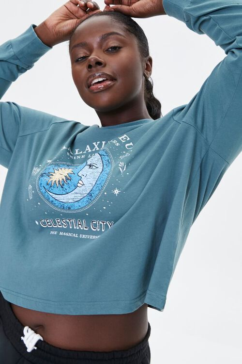 Plus Size Celestial Graphic Pullover, image 1