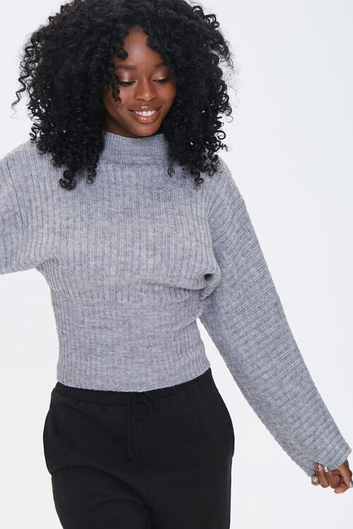 Ribbed Mock Neck Sweater, image 5