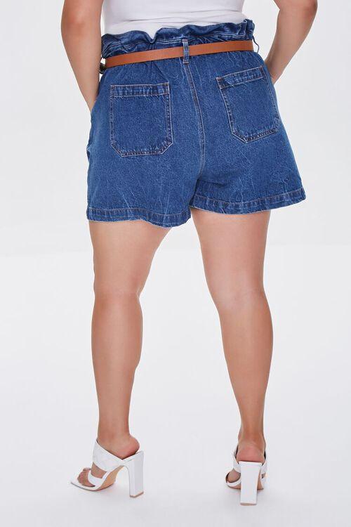 MEDIUM DENIM Plus Size Denim Paperbag Shorts, image 4