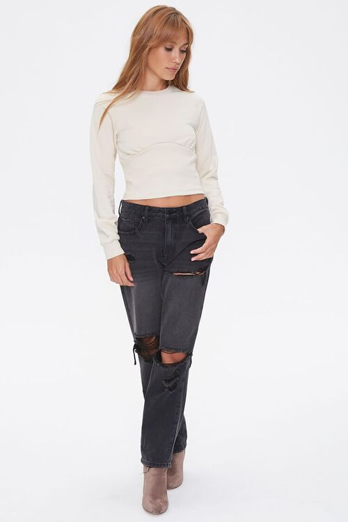 Shirred French Terry Top, image 4