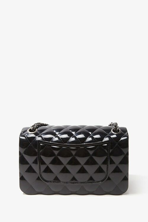 BLACK Mini Quilted Crossbody Bag, image 2