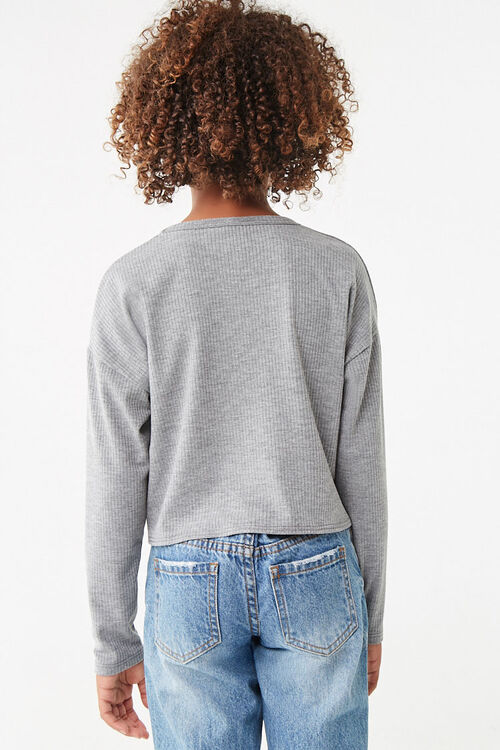 Girls Ribbed Knotted Top (Kids), image 3