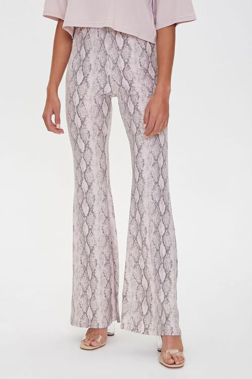 Jordyn Snakeskin Print Flare Pants, image 2