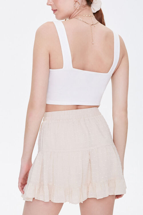 Clip Dot Tiered Mini Skirt, image 4