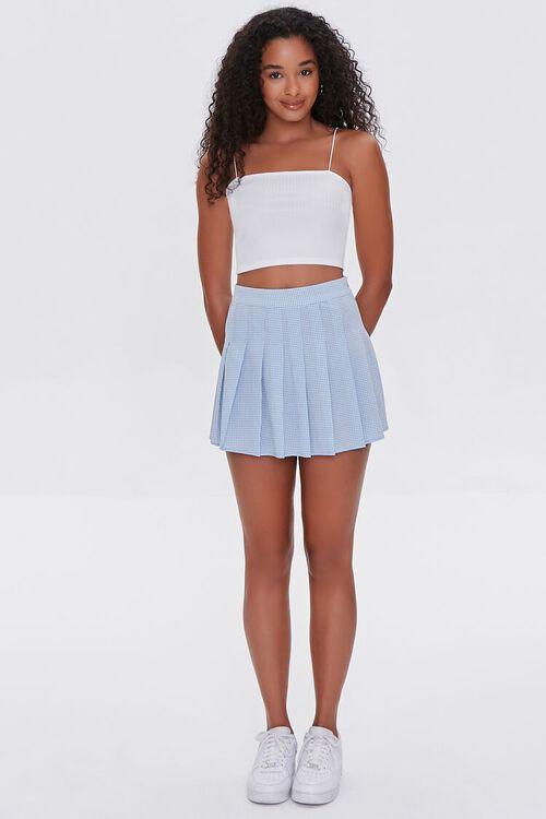 Plaid Pleated Mini Skirt, image 5