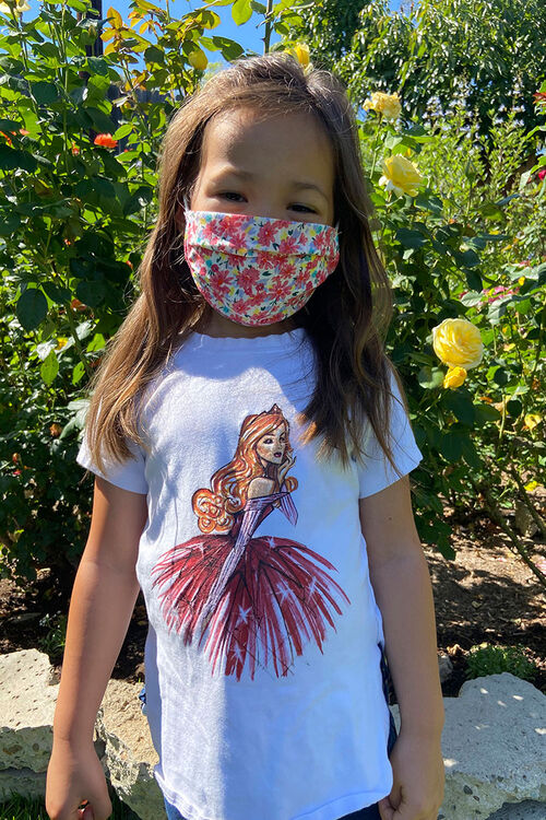 Girls Printed Face Mask (Kids), image 5