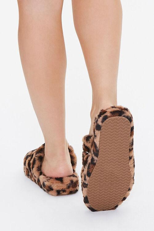 Plush Leopard Print Slippers, image 3