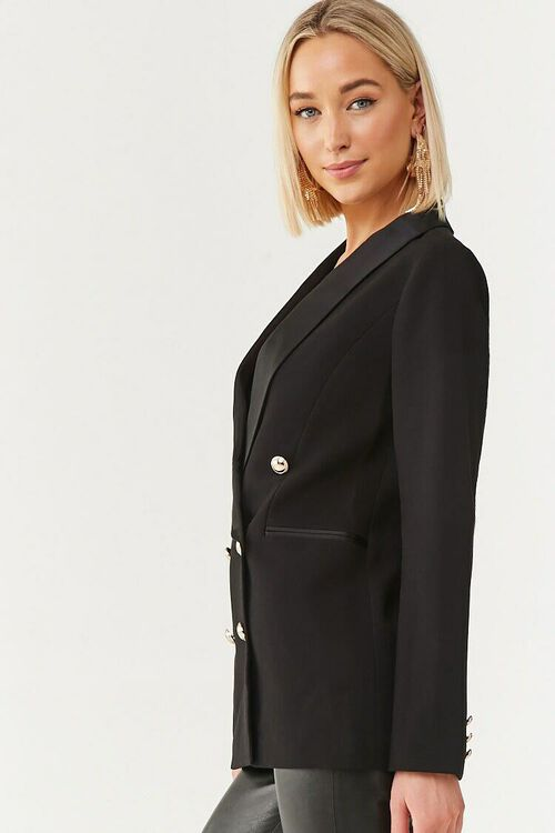 Double-Breasted Buttoned Blazer, image 2