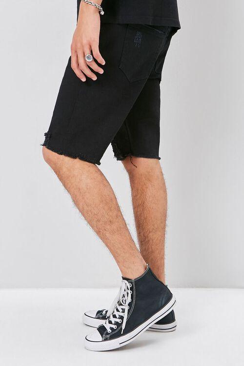 Clean Wash Distressed Denim Shorts, image 3
