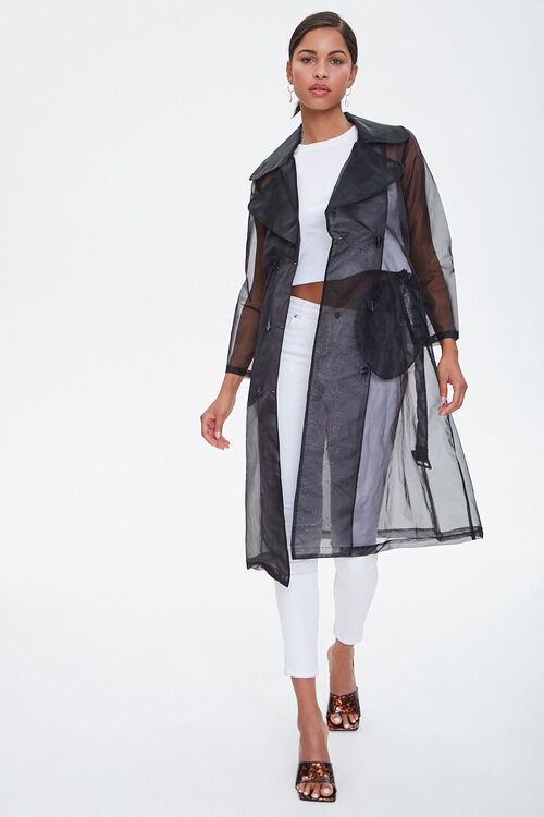 Belted Organza Trench Coat, image 4