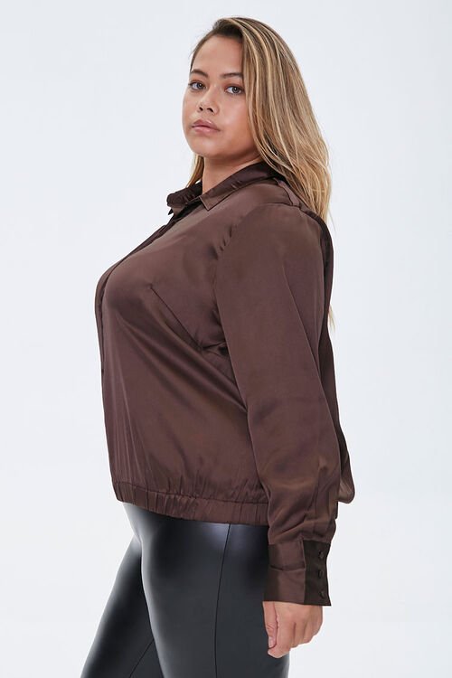 Plus Size Satin Shirt, image 2