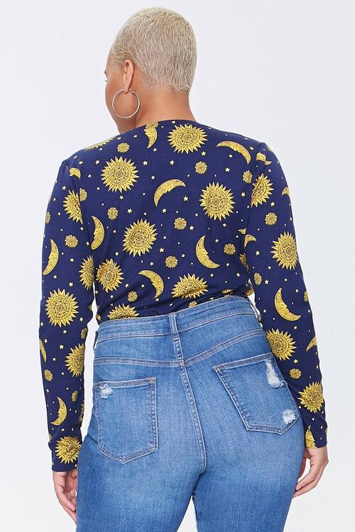 Plus Size Celestial Print Bodysuit, image 3