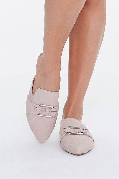 Faux Suede Pointed Mules, image 4