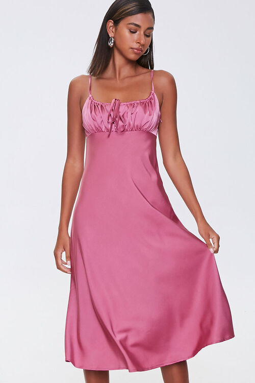 Ruched Satin Dress, image 1