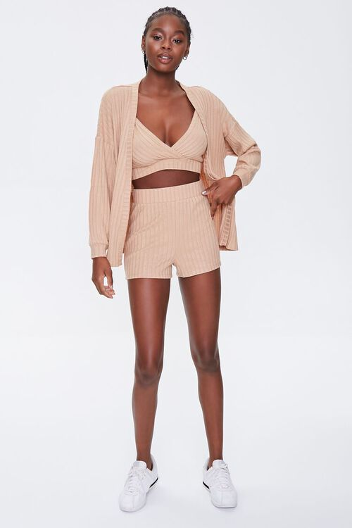 Wide-Ribbed Cardigan, Cami, & Shorts Set, image 4