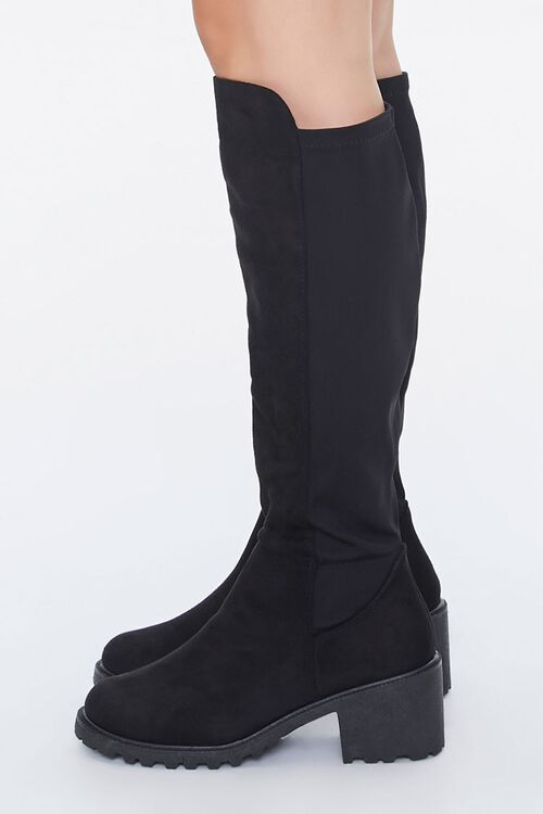 Faux Suede Knee-High Boots, image 2