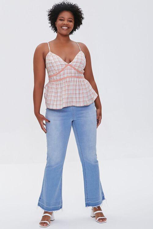 Plus Size Plaid Lace-Trim Cami, image 4