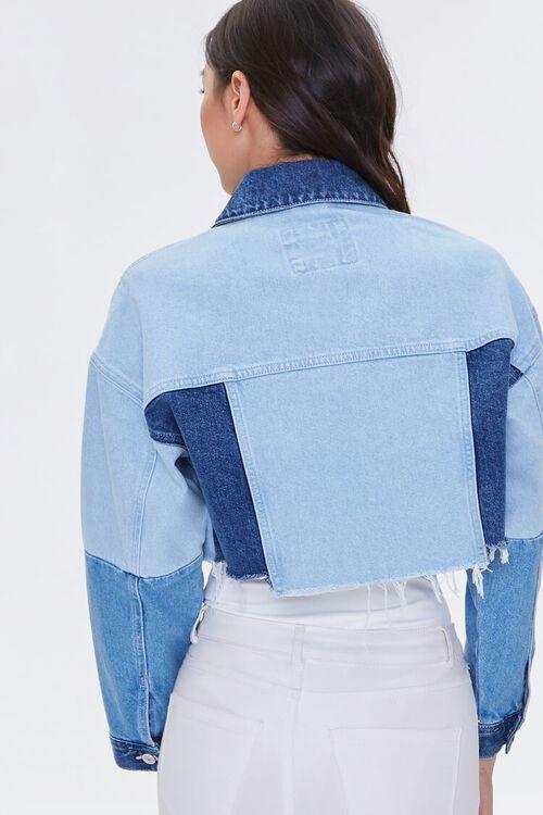 Colorblock Frayed Denim Jacket, image 4