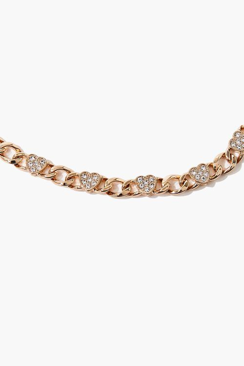 Rhinestone Heart Charm Bracelet, image 2
