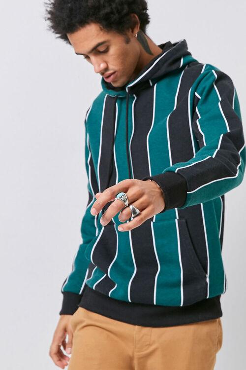 Striped Fleece Hoodie, image 1