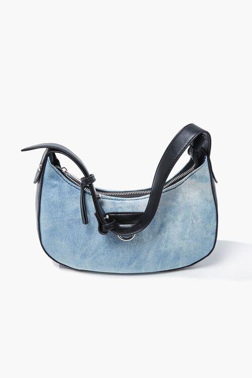 Denim Washed Shoulder Bag, image 3