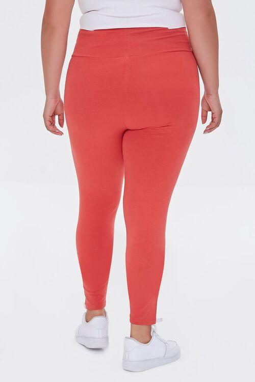 RED Plus Size Basic Organically Grown Cotton Leggings, image 4