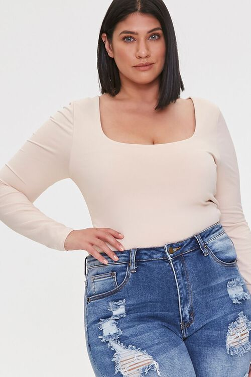 Plus Size Long-Sleeve Top, image 1