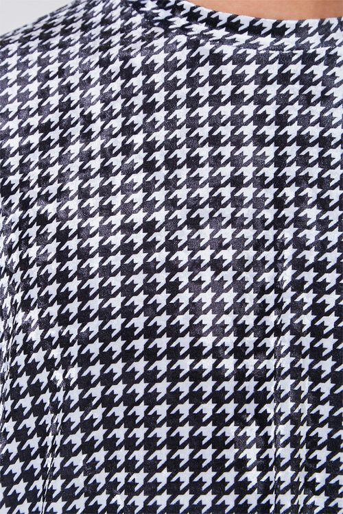 Velour Houndstooth Tee, image 5
