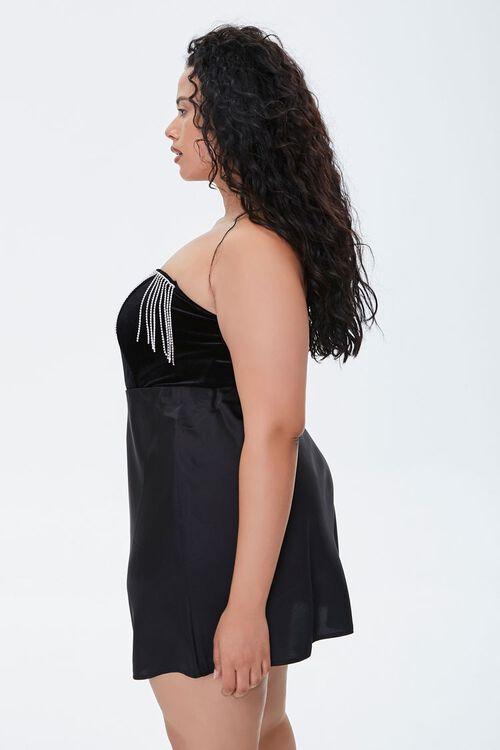 Plus Size Rhinestone Fringe Bodysuit, image 2