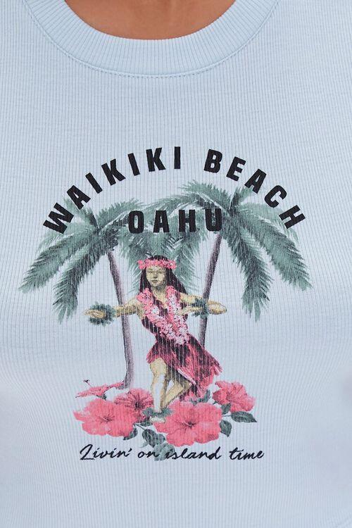 Waikiki Oahu Graphic Crop Top, image 5