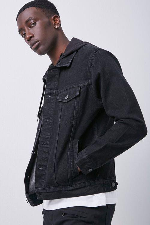 Hooded Denim Jacket, image 2