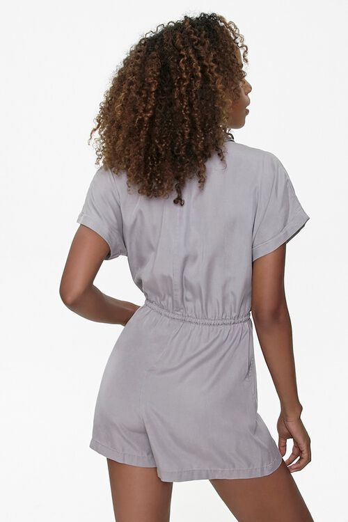 Button-Front Drawstring Romper, image 3