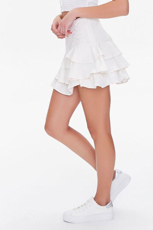 Ruffled Linen-Blend Mini Skirt, image 3