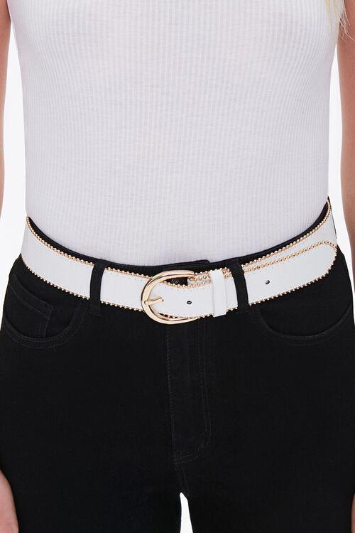 WHITE/GOLD Studded Hip Belt, image 2