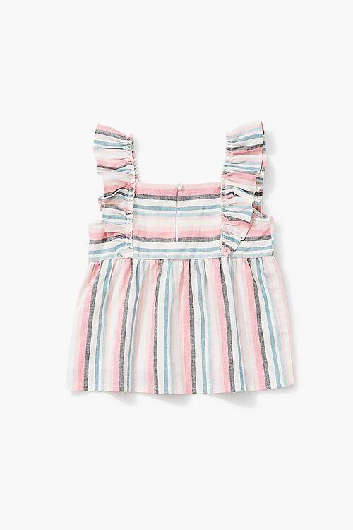 Girls Striped Linen-Blend Top (Kids), image 2