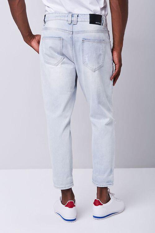 LIGHT DENIM Distressed Straight-Leg Ankle Jeans, image 4