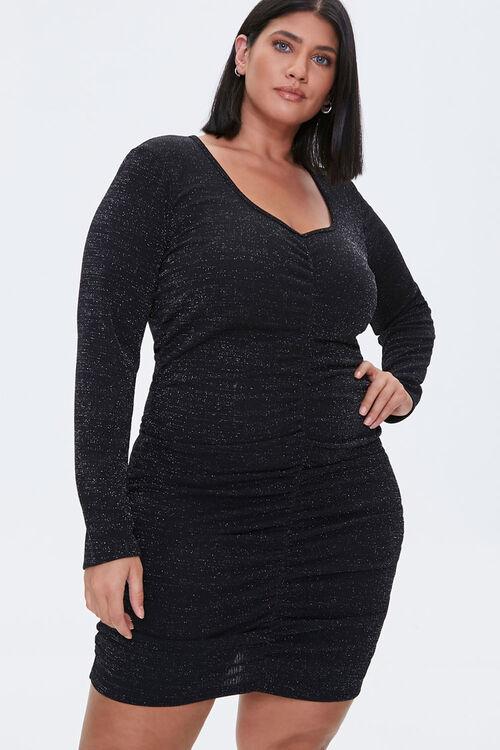 Plus Size Ruched Mini Dress, image 1