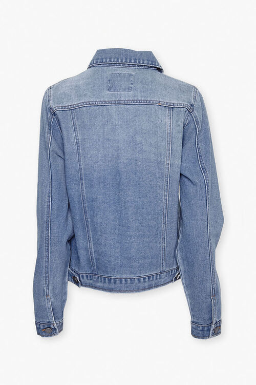 Button-Front Denim Jacket, image 3
