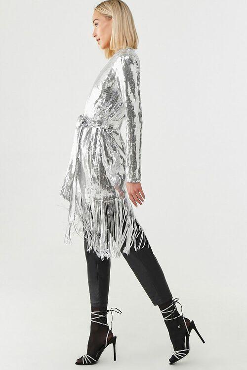 Sequin Fringe Wrap Coat, image 2