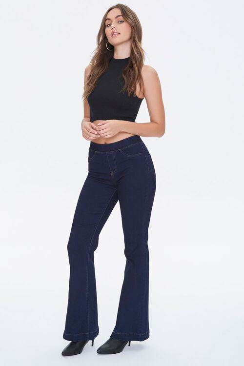 DARK DENIM High-Rise Flare Jeans, image 1
