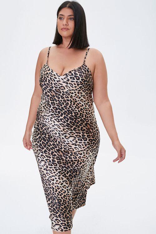 Plus Size Leopard Print Dress, image 1
