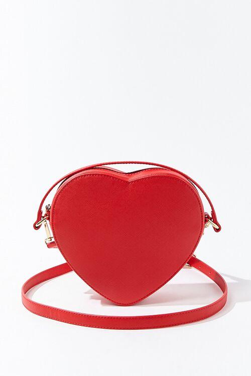 RED Heart-Shaped Crossbody Bag, image 1