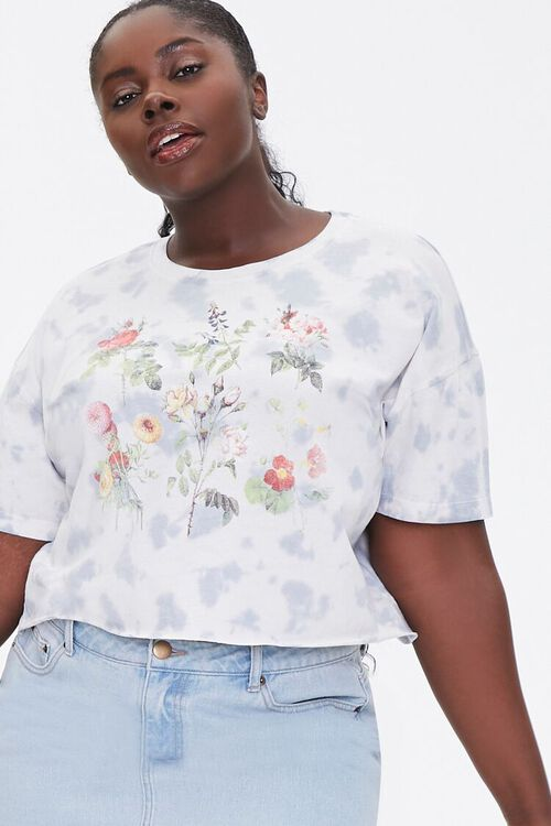 Plus Size Wildflower Graphic Tee, image 1