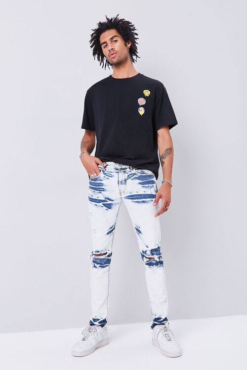 Bleached Slim-Fit Jeans, image 1