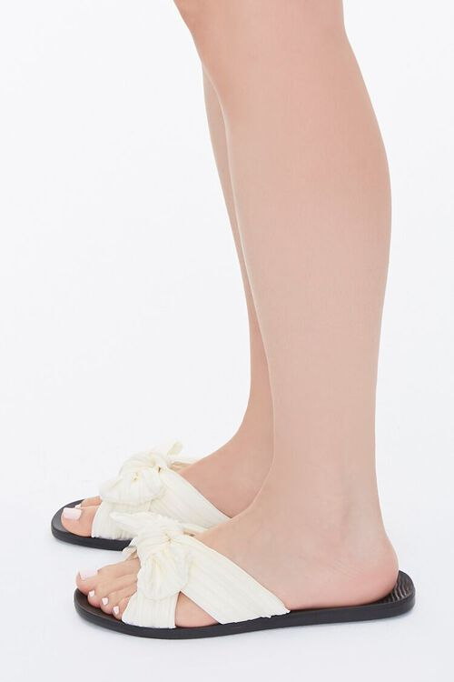 Chiffon Crisscross Bow Sandals, image 2