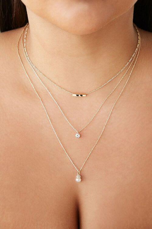 Layered Pendant Necklace, image 1